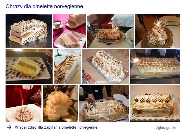 desery z francji Omlet norweski - Baked Alaska